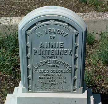 PUNTENNEY, ANNIE - Yavapai County, Arizona | ANNIE PUNTENNEY - Arizona Gravestone Photos