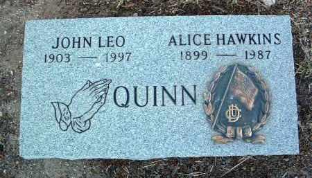 HAWKINS QUINN, ALICE - Yavapai County, Arizona   ALICE HAWKINS QUINN - Arizona Gravestone Photos