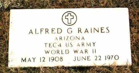 RAINES, ALFRED G. - Yavapai County, Arizona | ALFRED G. RAINES - Arizona Gravestone Photos