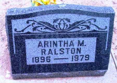 RALSTON, ARINTHA MABEL - Yavapai County, Arizona   ARINTHA MABEL RALSTON - Arizona Gravestone Photos