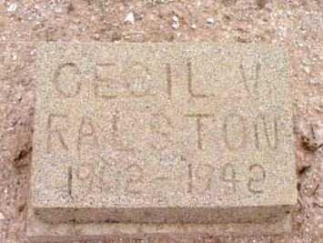 RALSTON, CECIL VIRGIL - Yavapai County, Arizona | CECIL VIRGIL RALSTON - Arizona Gravestone Photos