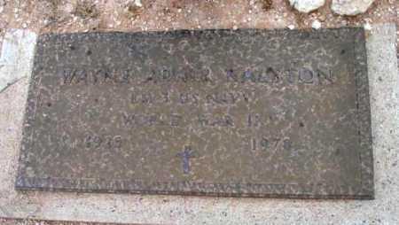 RALSTON, WAYNE ADAIR - Yavapai County, Arizona | WAYNE ADAIR RALSTON - Arizona Gravestone Photos