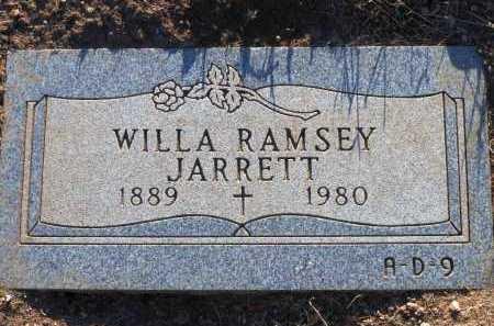 RAMSEY JARRETT, WILLA - Yavapai County, Arizona   WILLA RAMSEY JARRETT - Arizona Gravestone Photos
