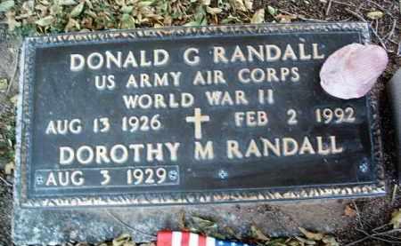 RANDALL, DONALD GEORGE - Yavapai County, Arizona | DONALD GEORGE RANDALL - Arizona Gravestone Photos