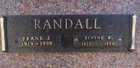 RANDALL, FRANK J. - Yavapai County, Arizona | FRANK J. RANDALL - Arizona Gravestone Photos