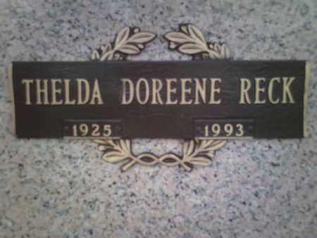 RECK, THELDA DOREENE - Yavapai County, Arizona   THELDA DOREENE RECK - Arizona Gravestone Photos