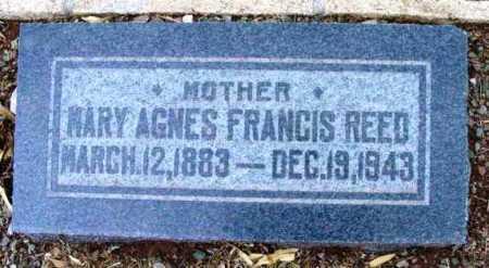 REED, MARY AGNES - Yavapai County, Arizona   MARY AGNES REED - Arizona Gravestone Photos