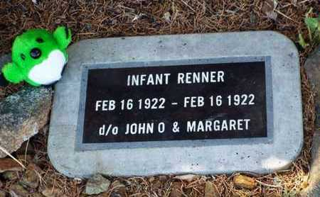 RENNER, INFANT DAUGHTER - Yavapai County, Arizona | INFANT DAUGHTER RENNER - Arizona Gravestone Photos