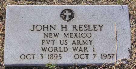 RESLEY, JOHN HUTCHINSON - Yavapai County, Arizona | JOHN HUTCHINSON RESLEY - Arizona Gravestone Photos