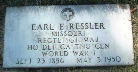 RESSLER, EARL E. - Yavapai County, Arizona   EARL E. RESSLER - Arizona Gravestone Photos