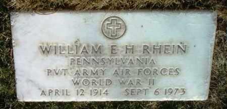 RHEIN, WILLIAM E. - Yavapai County, Arizona   WILLIAM E. RHEIN - Arizona Gravestone Photos