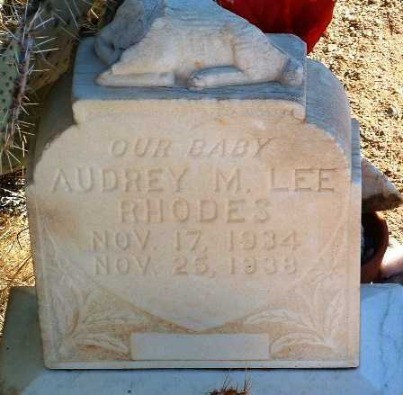 RHODES, AUDREY MARIE LEE - Yavapai County, Arizona   AUDREY MARIE LEE RHODES - Arizona Gravestone Photos