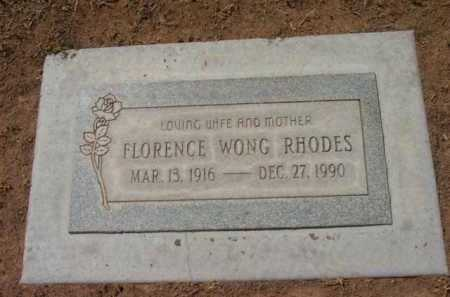 RHODES, FLORENCE - Yavapai County, Arizona | FLORENCE RHODES - Arizona Gravestone Photos