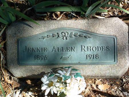 ALLEN RHODES, JENNIE P. - Yavapai County, Arizona | JENNIE P. ALLEN RHODES - Arizona Gravestone Photos