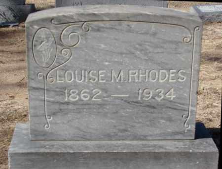RHODES, LOUISE M. - Yavapai County, Arizona   LOUISE M. RHODES - Arizona Gravestone Photos