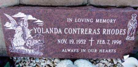 RHODES, YOLANDA - Yavapai County, Arizona   YOLANDA RHODES - Arizona Gravestone Photos