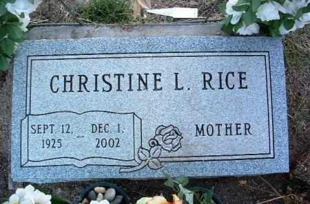 RICE, CHRISTINE L. - Yavapai County, Arizona | CHRISTINE L. RICE - Arizona Gravestone Photos