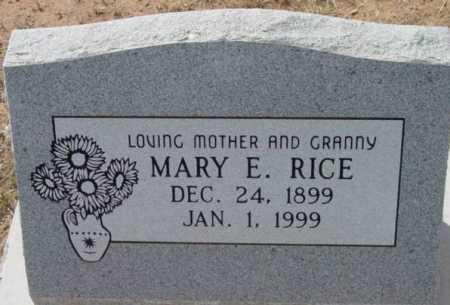 RICE, MARY E. - Yavapai County, Arizona   MARY E. RICE - Arizona Gravestone Photos