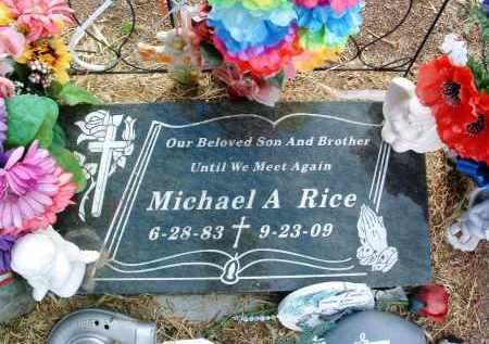 RICE, MICHAEL A. - Yavapai County, Arizona | MICHAEL A. RICE - Arizona Gravestone Photos