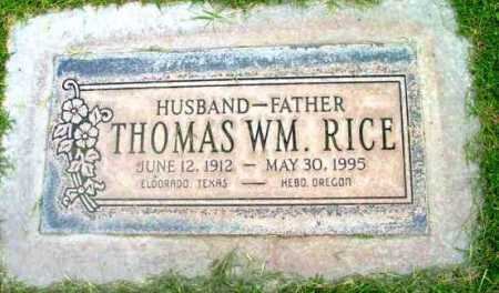 RICE, THOMAS WILLIAM - Yavapai County, Arizona   THOMAS WILLIAM RICE - Arizona Gravestone Photos