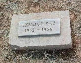 RICE, THELMA L. - Yavapai County, Arizona   THELMA L. RICE - Arizona Gravestone Photos