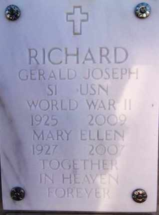 RICHARD, MARY ELLEN - Yavapai County, Arizona | MARY ELLEN RICHARD - Arizona Gravestone Photos