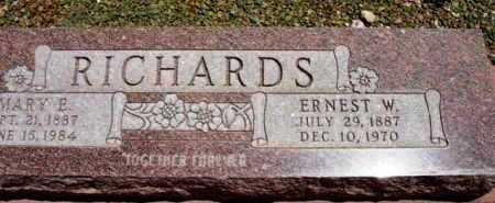 RICHARDS, ERNEST WESLEY - Yavapai County, Arizona | ERNEST WESLEY RICHARDS - Arizona Gravestone Photos