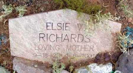 RICHARDS, ELSIE V. - Yavapai County, Arizona | ELSIE V. RICHARDS - Arizona Gravestone Photos