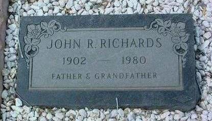 RICHARDS, JOHN R. - Yavapai County, Arizona   JOHN R. RICHARDS - Arizona Gravestone Photos
