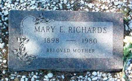 RICHARDS, MARY E. - Yavapai County, Arizona | MARY E. RICHARDS - Arizona Gravestone Photos