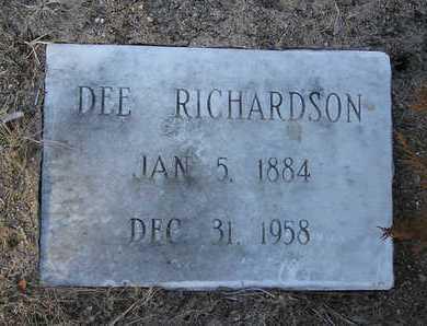 RICHARDSON, DEE - Yavapai County, Arizona | DEE RICHARDSON - Arizona Gravestone Photos