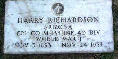 RICHARDSON, HARRY - Yavapai County, Arizona | HARRY RICHARDSON - Arizona Gravestone Photos