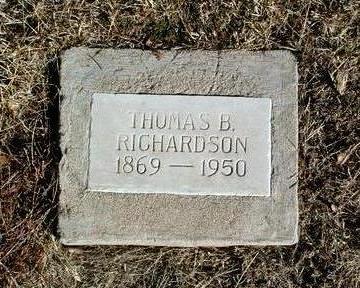 RICHARDSON, THOMAS B. - Yavapai County, Arizona   THOMAS B. RICHARDSON - Arizona Gravestone Photos
