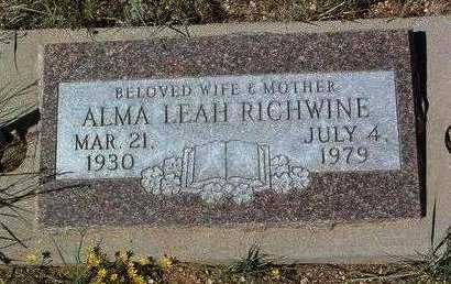 RICHWINE, ALMA LEAH - Yavapai County, Arizona | ALMA LEAH RICHWINE - Arizona Gravestone Photos