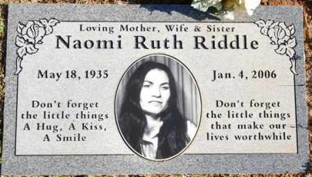 RIDDLE, NAOMI RUTH - Yavapai County, Arizona | NAOMI RUTH RIDDLE - Arizona Gravestone Photos