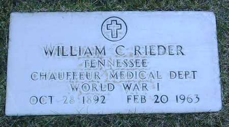 RIEDER, WILLIAM C. - Yavapai County, Arizona | WILLIAM C. RIEDER - Arizona Gravestone Photos