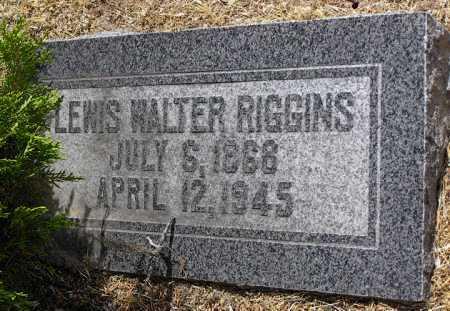 RIGGINS, LEWIS WALTER - Yavapai County, Arizona | LEWIS WALTER RIGGINS - Arizona Gravestone Photos