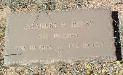 RILEY, CHARLES E. - Yavapai County, Arizona | CHARLES E. RILEY - Arizona Gravestone Photos