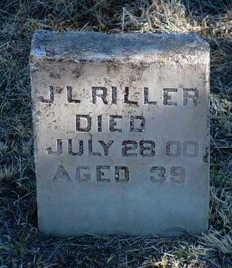 RILLER, J. L. - Yavapai County, Arizona | J. L. RILLER - Arizona Gravestone Photos