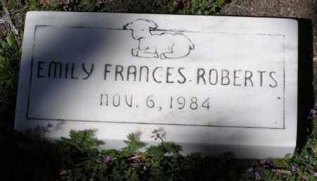 ROBERTS, EMILY FRANCES - Yavapai County, Arizona | EMILY FRANCES ROBERTS - Arizona Gravestone Photos