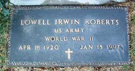 ROBERTS, LOWELL IRWIN - Yavapai County, Arizona   LOWELL IRWIN ROBERTS - Arizona Gravestone Photos