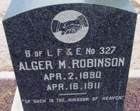 ROBINSON, ALGER MORRIS - Yavapai County, Arizona | ALGER MORRIS ROBINSON - Arizona Gravestone Photos