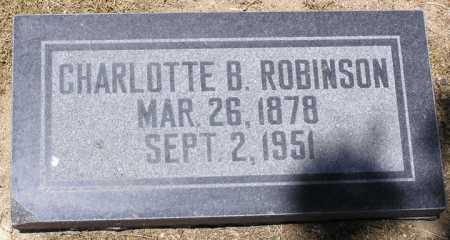 ROBINSON, CHARLOTTE B. - Yavapai County, Arizona | CHARLOTTE B. ROBINSON - Arizona Gravestone Photos