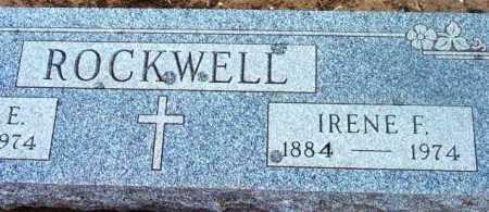 ROCKWELL, IRENE F. - Yavapai County, Arizona   IRENE F. ROCKWELL - Arizona Gravestone Photos