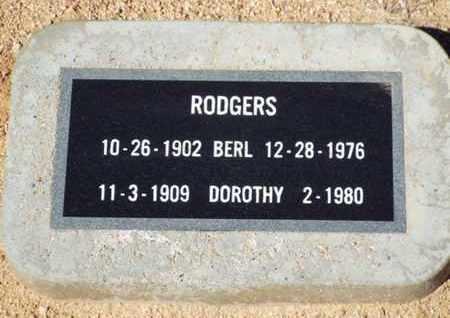 RODGERS, BERL J. - Yavapai County, Arizona | BERL J. RODGERS - Arizona Gravestone Photos