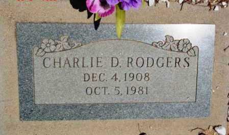 RODGERS, CHARLIE D. - Yavapai County, Arizona | CHARLIE D. RODGERS - Arizona Gravestone Photos