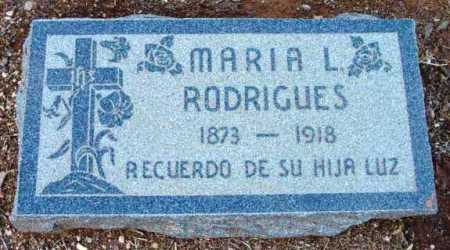 RODRIGUES, MARIA L. - Yavapai County, Arizona | MARIA L. RODRIGUES - Arizona Gravestone Photos