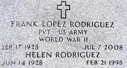 RODRIGUEZ, FRANK LOPEZ - Yavapai County, Arizona | FRANK LOPEZ RODRIGUEZ - Arizona Gravestone Photos