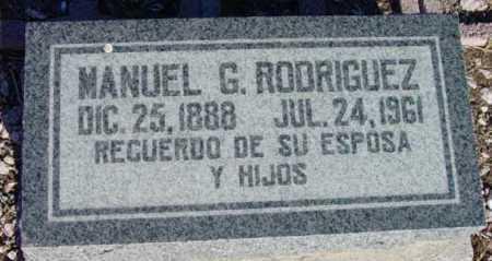 RODRIGUEZ, MANUEL G. - Yavapai County, Arizona   MANUEL G. RODRIGUEZ - Arizona Gravestone Photos