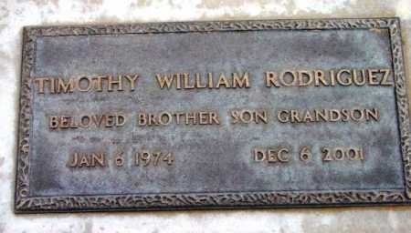 RODRIGUEZ, TIMOTHY W. - Yavapai County, Arizona | TIMOTHY W. RODRIGUEZ - Arizona Gravestone Photos
